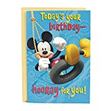 Hallmark Birthday Card for Kids with Sound (Plays Mickey Mouse Clubhouse Theme)