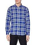 Marca Amazon - MERAKI Camisa Hombre, Multicolor (Blue/white/pink), S, Label: S