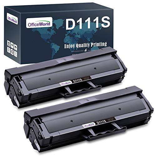 OFFICEWORLD D111S D111L (2 Nero) Cartucce Toner Ricambio per Samsung MLTD111S MLTD111L per Samsung Xpress SL-M2070 SL-M2026 SL-M2020 SL-M2022 SL-M2070W SL-M2026W SL-M2020W SL-M2022W SL-2070FW