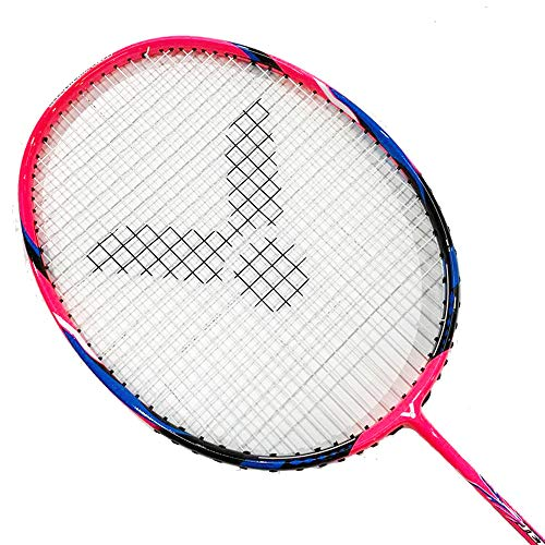 Victor Jetspeed S 011 Badminton Racket (Rose Red)(4UG5)(Strung @24LB)