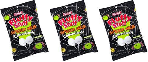 Halloween Fluffy Stuff Cotton Candy, 2.1 oz, 3 pack (Spider Web)