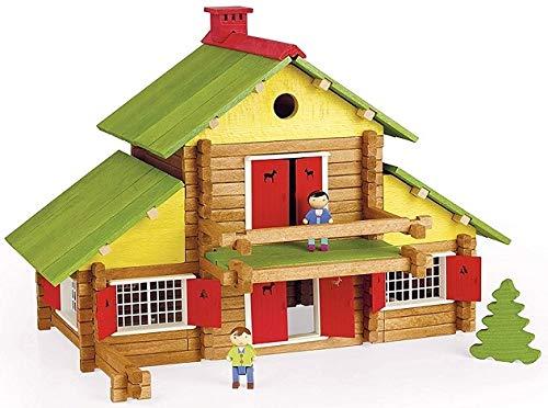 OTTO Grand Chalet Suisse 240 Pieces - Jouet en Bois - Fabrique en France - Maison pour jeujura Construction - Enfant des 5 Ans