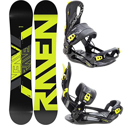 RAVEN Snowboard Set: Snowboard Patrol 2020/2021 + Bindung Fastec FT270 Lemon (150cm + FT270 Lemon L)