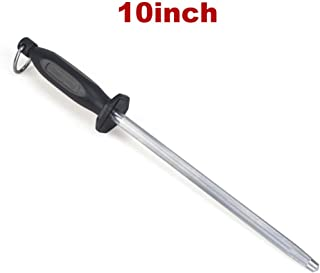 SHANGPEIXUAN Knife Sharpener Rod 10 Inch Carbon Steel Sharpening Steel,Suitable for All Cutting Tools,Professional Kitchen Knife Sharpeners (10 Inch)