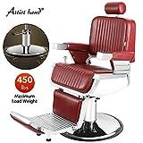 Artist Hand Heavy Duty Hydraulic Recline Barber Chair Salon Chair...