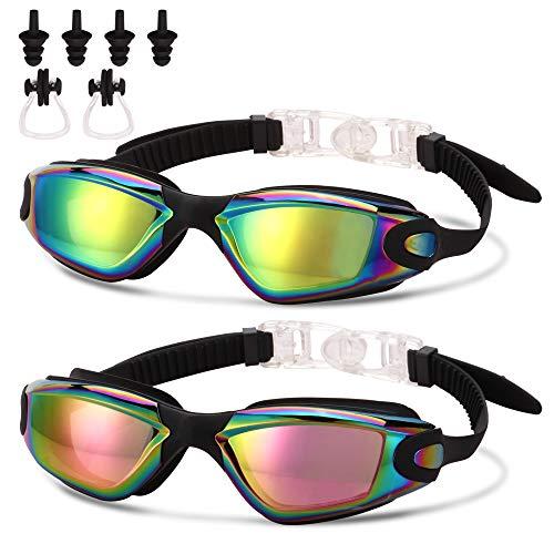 Romoc 2 Pack Kids Swimming Goggles,No Leaking,Anti Fog,UV Protection Swim Glasses Water Goggles