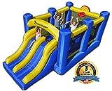 Island Hopper Racing Slide and Slam Recreational Bounce House