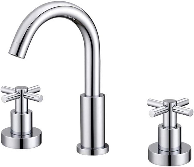 Taps Mixer?Swivel?Faucet Sink Cross Double-Handled Faucet