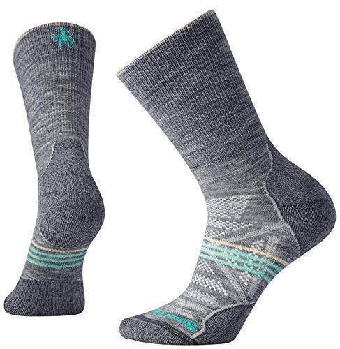 Smartwool Damen Women's PhD Outdoor Crew Socks, Light Gray, M