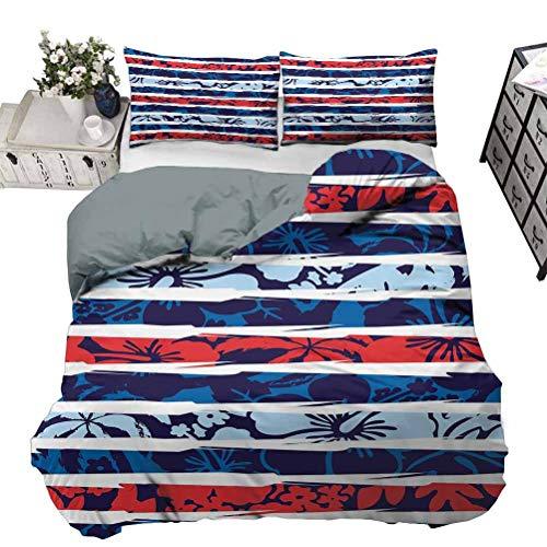 UNOSEKS LANZON Juego de ropa de cama con figuras de cuentas turcas en diferentes formas, telón de fondo a cuadros, ropa de cama de verano para mujeres y hombres dormitorios, rosa pálido, azul y blanco