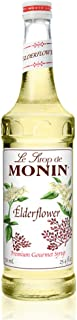 Monin - Elderflower Syrup, Delicate Scent with Floral Sweetness, Great for Cocktails, Lemonades, and Sodas, Gluten-Free, V...