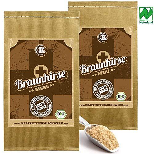 Braunhirse 2x1kg fein vermahlen - Rohkost aus deutschem BIO-Anbau - GLUTENFREI und basenbildend für eine gute Silicium-Versorgung aus dem vollen Korn.