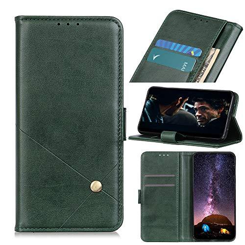 JARNING Prämie hülle für Xiaomi Mi Note 10/CC9 Pro,Retro Buch Brieftasche stoßfest Hülle Cover Lederhülle mit Kartenfächer Ständer Magnetverschluss (Grün)
