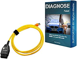 MyCor-Media Original Diagnosis Ethernet RJ45 Interface for F, G, I Models from 2008 to 2019 for BMW INPA Rheingold ISTA NCS Expert