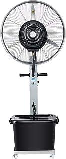 Ventilador comercial, ventiladores oscilantes para habitaciones, ventiladores de piso grandes, ventilador de pedestal, características negras movimiento oscilante y altura ajustable