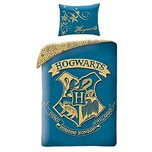 Halantex Juego de Cama Infantil de Harry Potter, Algodón, Azul, 140 x 200 cm 1