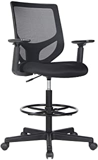 Drafting Chair Tall Office Chair for Standing Desk Drafting Mesh Table Chair with..