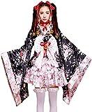 LABABE Japanese Cherry blossoms pattern Kimono Anime Cosplay Lolita Halloween Fancy Dress...