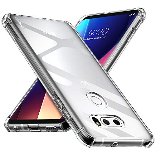 CASEVASN Compatiable with LG V30 / LG V30S / LG V30 Plus/LG V30S ThinQ/LG V35 / LG V35 ThinQ, Ultra Slim Thin Anti-Scratches Flexible TPU Gel Slim Fit Soft Skin Silicone Protective Case Cover (Clear)