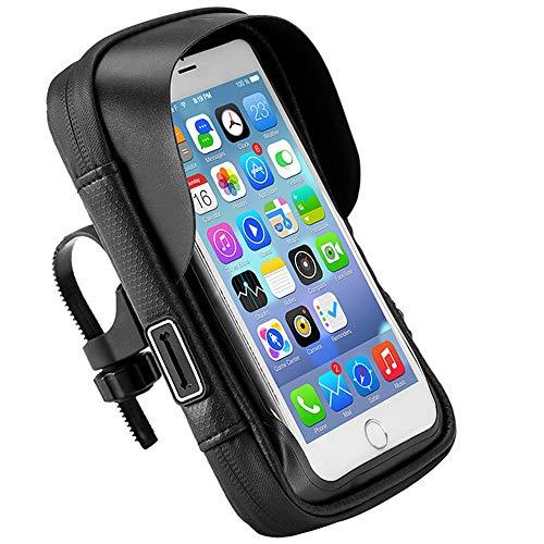 AMAZOM Bolsa para Teléfono De Bicicleta - Paquete Montaje Teléfono Impermeable para Ciclismo De Bicicleta con Pantalla Táctil Estuche para Teléfono con Visera Teléfono Móvil por Debajo 6.5 ''