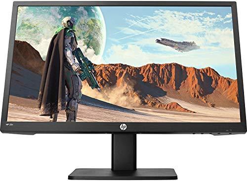 HP - Gaming 22x Monitor TN, Schermo 22' FHD, Tecnologia AMD FreeSync, Tempo Risposta 1 ms Overdrive, Frequenza 144 Hz, Altoparlanti Integrati, Low Blue Light, Compatibile Vesa, HDMI, VGA, Nero