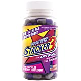 Stacker 3 Metabolizing Fat Burner with Chitosan, Capsules, 100-Count Bottle