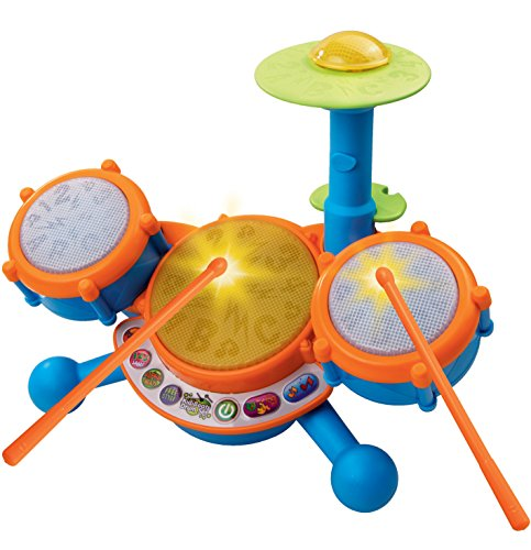 VTech KidiBeats Kids Drum Set, Orange