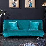feichanghao Plüsch Armless Schlafsofa Cover Universalgröße Hussen Stretch umfasst billige Couch Protector Elastic Bank Futon Cover