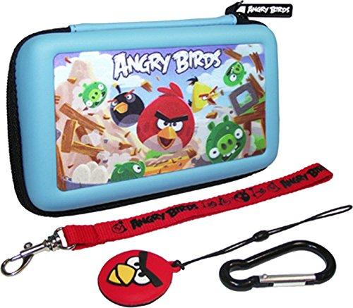 New diseño de pájaros Angry 3d especial para gaming de transporte juego de carcasas de para Nintendo DSi-3DS(4 pc) con mosquetón