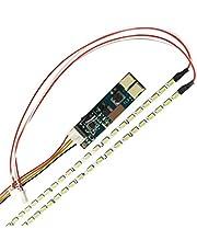 REFURBISHHOUSE Lampara LED de luz de fondo regulable realce universal Kit de actualizacion Luz LED ajustable para LCD Monitor 2 LED tiras