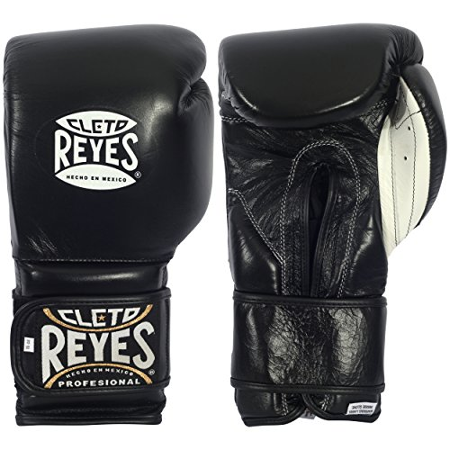 Cleto Reyes Boxhandschuhe - Sparring - Klettverschluss (Schwarz, 12 oz)
