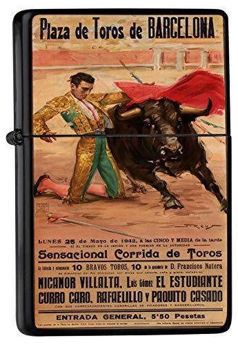 Encendedor De Gasolina Impreso Recargable Taurino de Barcelona Torero