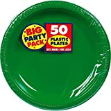 """Big Party Pack Festive Green Plastic Plates 