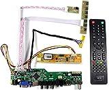 VSDISPLAY HD-MI VGA CVBS USB RF Audio LCD Controller Board Work for 14.1 15.4 inch LTN154AT07 LP141WX3 B141EW01 B141EW03 B141EW04 B154EW08 LTN154AT01 1280X800 1CCFL LVDS 30Pin Monitor