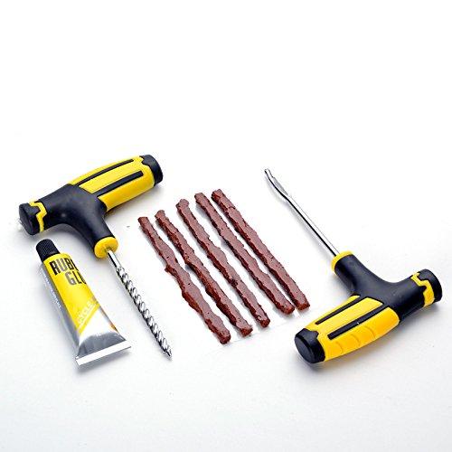 Lincong 8PCS Herramientas de Reparación de Neumáticos Kit de Automóviles Reparación Pinchazos...