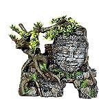 JANEFLY Acuario Decoración de Paisaje Artificial Creativo, Figuras de Resina de pecera, Naufragio Decoración de los Fondos Marinos Refugio de Mascotas Juguetes Decoración de Fondo Estatuas de Buda d