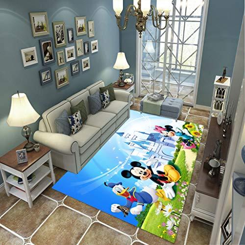LGXINGLIyidian Casa Alfombra Dibujos Animados De Pato Donald Mickey Mouse Alfombra Suave Antideslizante De Decoración del Hogar De Impresión 3D 140X200Cm