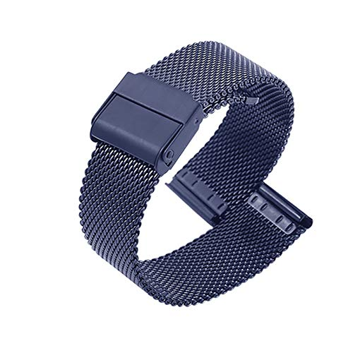 Uhrenarmband Verstellbares Edelstahlnetz Ersatz Uhrenarmband Atmungsaktiv Und Wasserdicht Schnellverschluss,21mm