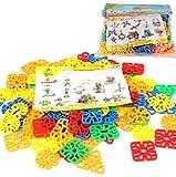 XMY Kinderplastikschneeflocke-Bausteine, Plastikspielzeug eignet Sich für eine Vielzahl von Formen, Lernspielzeug