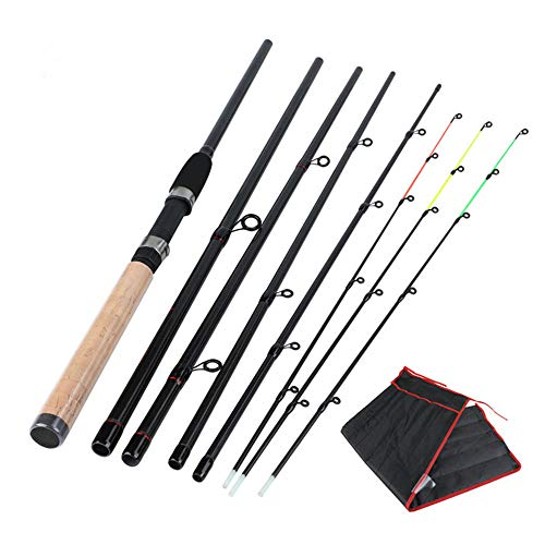 Fishing Rod HCGS 6 Section 3m Fishing Rod L M H Power Fishing Pole Carbons Fibers Rod Spinning Travel Rod Carp Fishing Tackle 3m Yellow