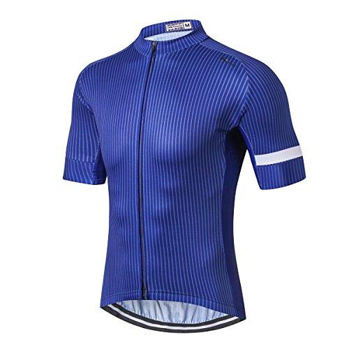 Weimostar Men's Cycling Jersey Men Mountain Bike Jerseys Short Sleeve Tops Lycra Cuff (Team Leader XXXL)