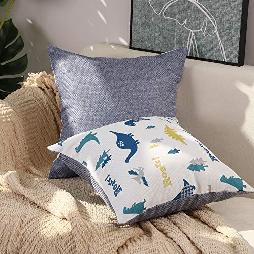 Basic Model Funda de cojín para sofá de la serie infantil, diseño de dibujos animados, 40 x 40 cm