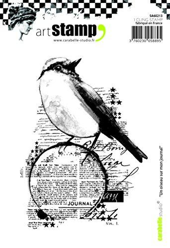 Carabelle Studio A Bird on My Journal Cling Sello, Caucho, 10.0x14.0x0.5 cm