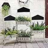 Cxraiy-HO Stand de Fleurs 3 Panneaux Paravent écran Usine Jardinière étagère for la Maison Patio...