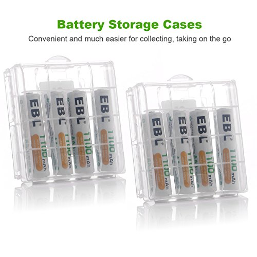 EBL AA AAA Battery Charger with Independent Slots for NiMH/NiCD AA AAA Rechargeable Batteries
