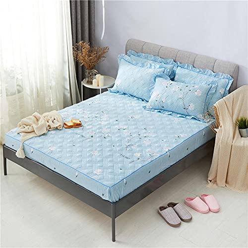 CYYyang Unterbett Soft-Matratzen-Topper, Matratzenschutz Boxspring-Betten geeignet Einzelstück Bettlaken verdickt-13_150cmx200cm