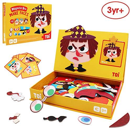 ANIKI TOYS Magnetisches Puzzle-Aufgabenbuch 3-7 Jahre Lernspiel Puzzlespiel - Gesicht