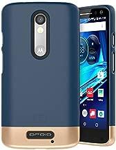 Encased Motorola Droid Turbo 2 Case, (SlimSHIELD Edition) Ultra Slim Cover (Full Coverage) Hybrid Slider Shell (Deep Blue)