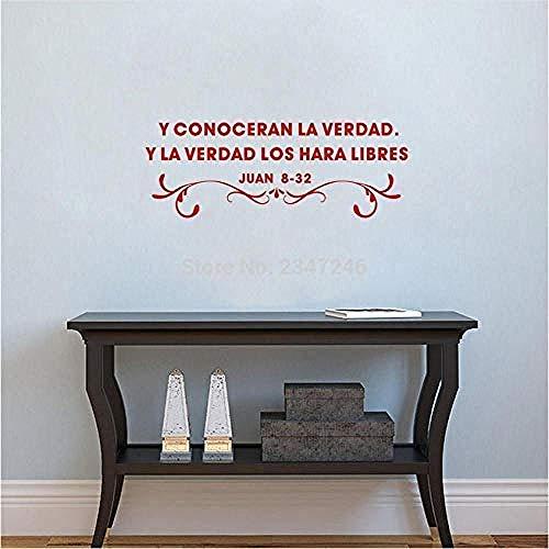Frases cristianas españolas pegatinas de pared y vinilos adhesivos mu