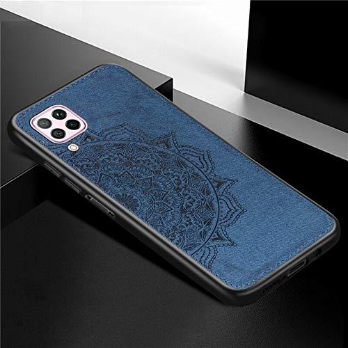 HHF Teléfono móvil Accesorios para Huawei Nova 6, Teléfono Funda Hard Shcok TPU Soft TPU Funda Textura de la Tela para Huawei Nova 6 WLZ-AL10 WLZ-TL10 6.57 Pulgadas